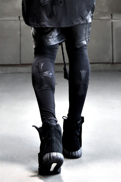 ByTheR Leather Cross Leggings